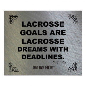 Motivational Lacrosse Poster 003