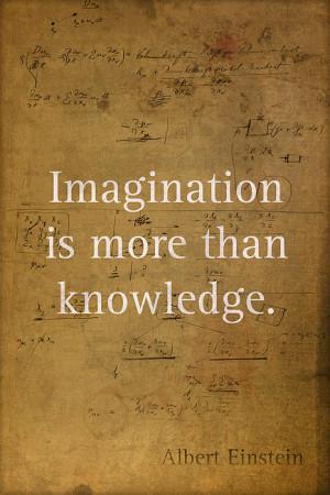 Albert Einstein Quote Imagination Science Math Inspirational Words On ...
