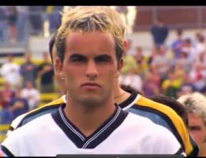 ... Landon Donovan representing the early 2000's, LA Galaxy, and the US
