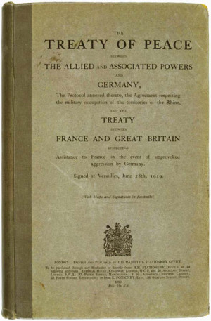Treaty of Versailles Signed, Ending WW I Featured Hot