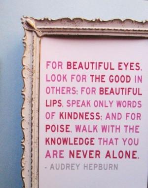 Audrey Hepburn Quote in Quotes & Sayings
