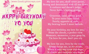 birthday scraps, greetings and cards, happy birthday love quotes ...