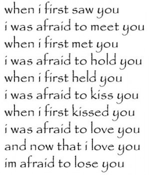 When I first saw you...