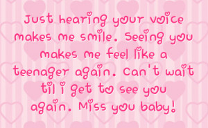 ... teenager again can t wait til i get to see you again miss you baby