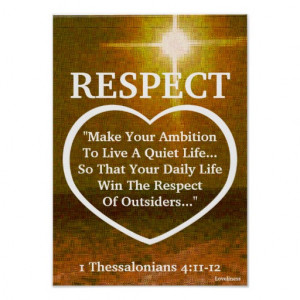 The Light Of Respect Bible Verse-Customize Posters
