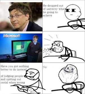 Funny Bill Gates, Microsoft