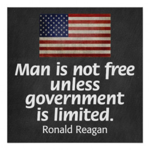 Ronald Reagan Quote on Freedom Poster