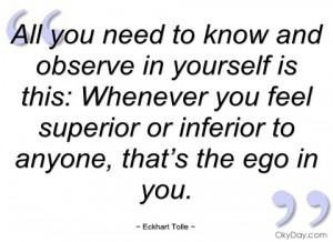 all you need to know and observe in eckhart tolle