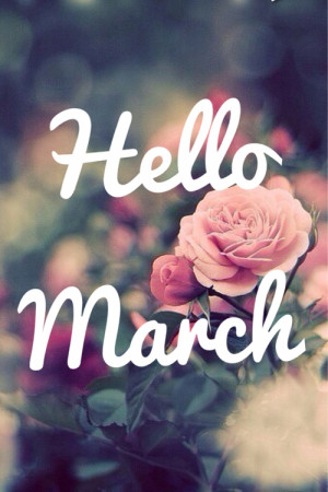 Hello March, please be good to us.♡