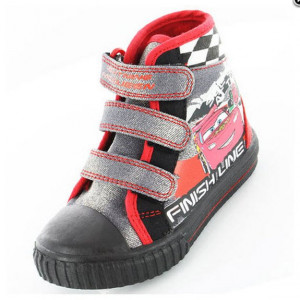 Boys Pixar Cars Lightning McQueen Hi-Top Velcro Strap Canvas Bumper ...