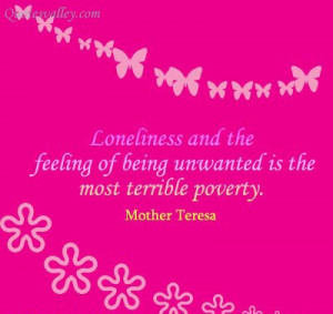 Loneliness And The Feeling Of Being Unwanted