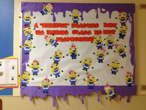 Despicable Me Back to School Bulletin Board! ☺ A