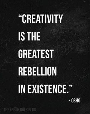creativity osho picture quote