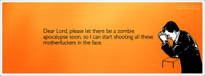 Zombie Apocalypse Facebook Cover Dear lord zombie apocalypse