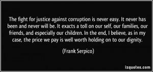 More Frank Serpico Quotes