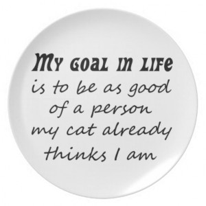 Funny quotes gifts cat humour joke quote gift plates