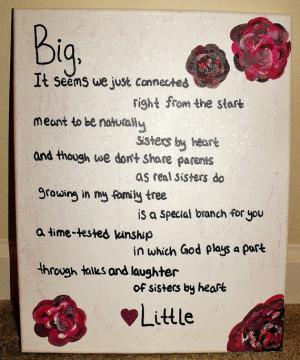 Big Sister Sorority Poems Sisters by heart sorority