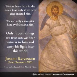 Quote from Joseph Ratzinger's (Pope Benedict XVI) book,
