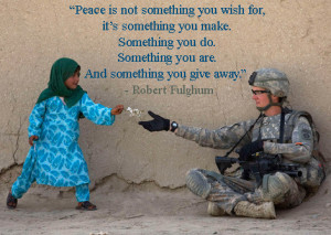 Quote and Photo About How To Find Peace