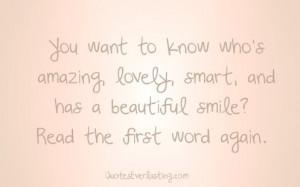 TO THE BEAUTIFUL U~