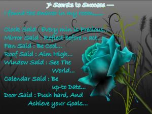 Secrets To Success..
