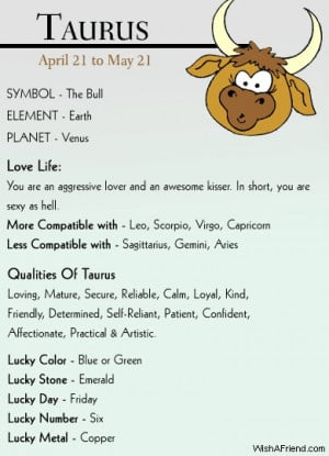 ... Home › Quotes › Taurus Zodiac Sign Horoscopes @ Astrology Sector