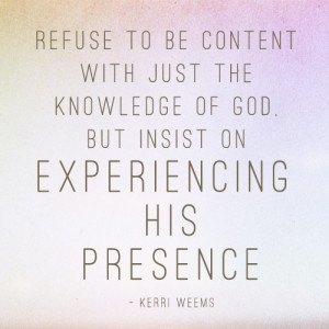 THE PRESENCE OF GOD | Quotes and such