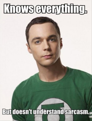 Funny Big Bang Theory Pictures - Sheldon Cooper knows everything