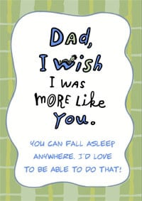Funny Dad's Birthday Card - A Funny Card For Your Father.