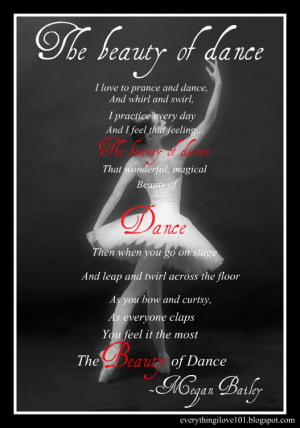 The beauty of dance-Megan B.