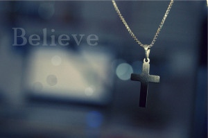 believe, cross, necklace, quote, quotes