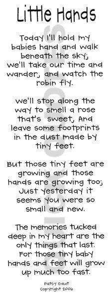 baby hands and feet will grow up much too fast more sweets baby baby ...