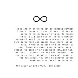 quote: Fault In Our Stars Infinity, Tfios, Fault Of Our Stars Quotes ...