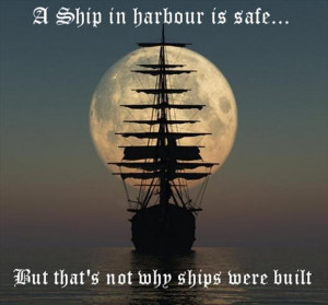 inspirational quotes, sailing your ship