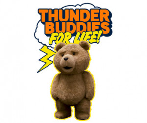 Thunder Buddy T-Shirt Teddy Bear Plush Design