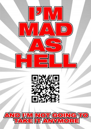 "mad as hell"" (sketch) - a video quote from a movie ""Network ..."