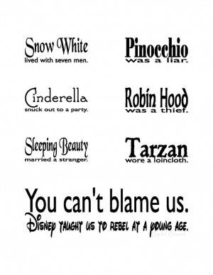 Bad Influence Quotes Tumblr Disney is a bad influence. ;)