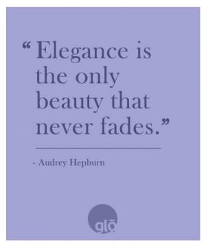 Audrey Hepburn Quote Elegance