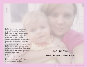 And Shaylyn now has many angels watching over her.