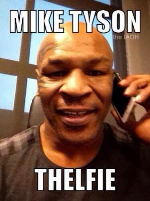 Mike Tyson selfie