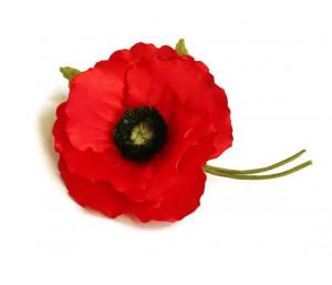 Poppy brooch, poppy corsage, poppy jewelry, veterans day, poppy pin on ...