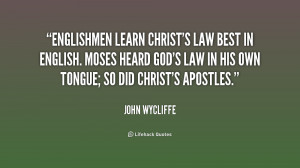 John Wycliffe Quotes