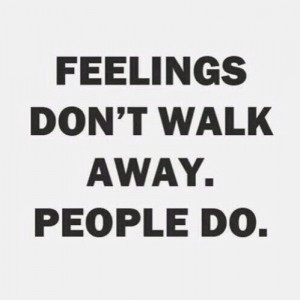 People walk away.