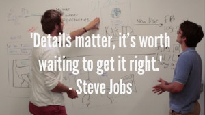 their attention to detail reminded us of this jobs quote