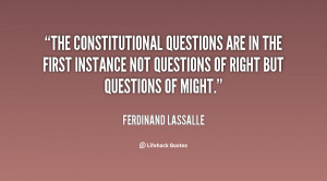The constitutional questions are in the first instance not questions ...