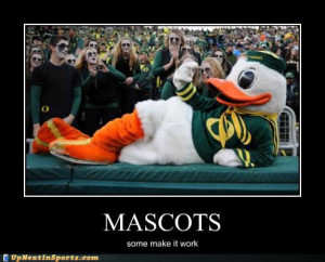 maybe they should try orange socks to match the mascot