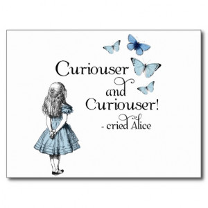 alice_in_wonderland_curiouser_butterfly_postcard ...