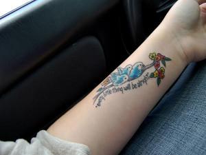 Girl's Beautiful Tattoo
