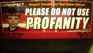 there s no profanity allowed at calgary s saddledome photo