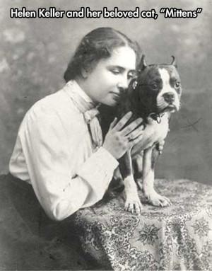 Helen Keller's pet…